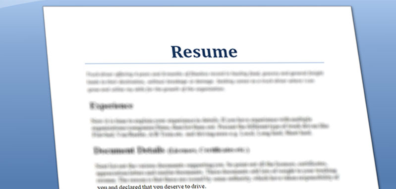 Quick and Simple: Truck Driver Resume preparation steps ...