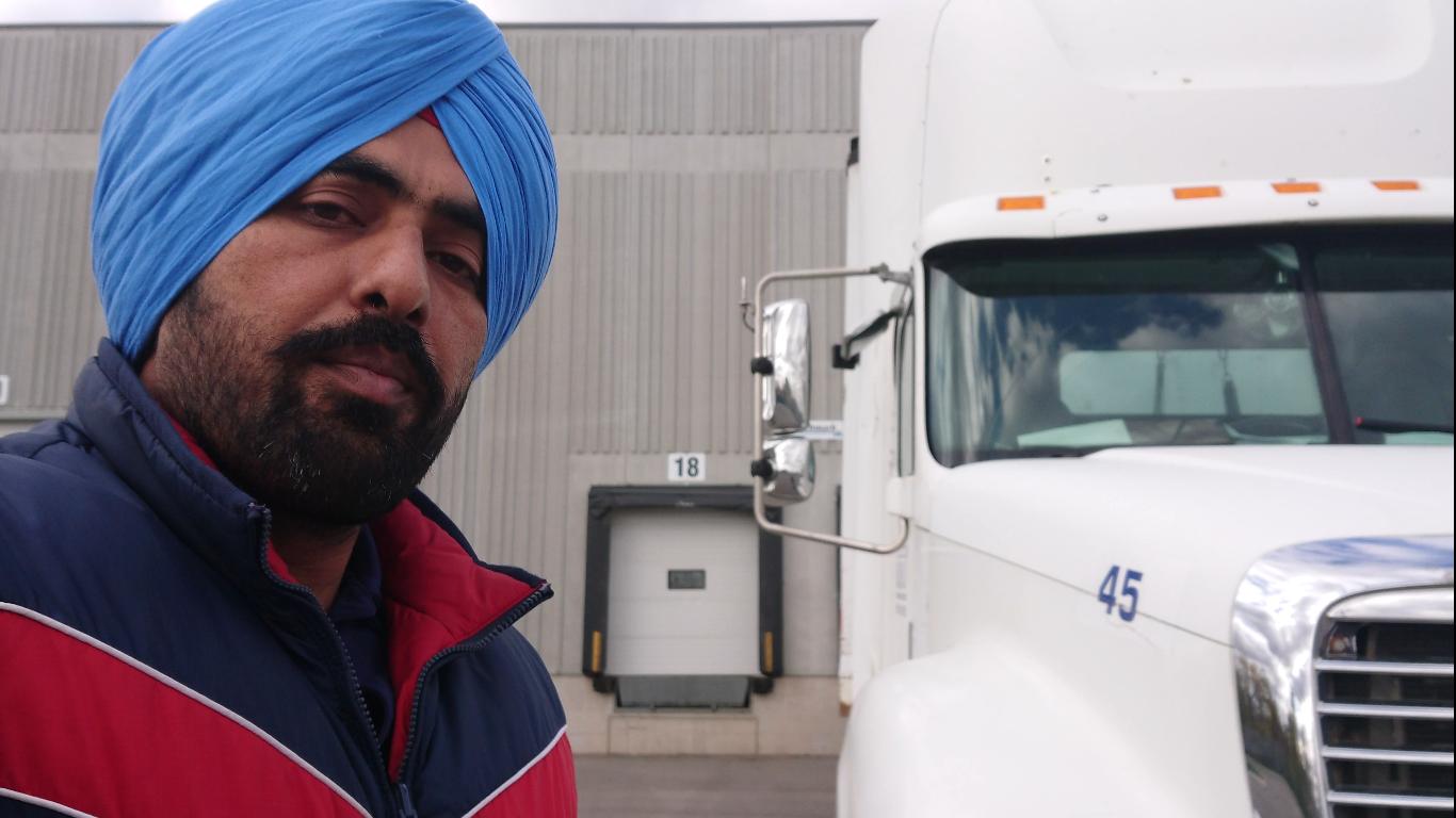 Sikh, Punjabi Truck Driver
