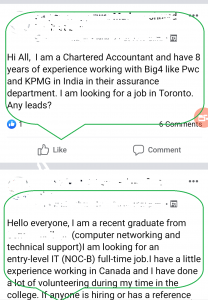 looking for job in Canada