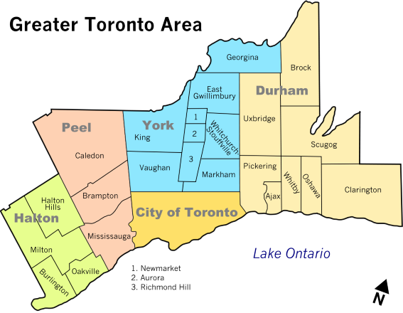 Greater Toronto Area Map, brampton, toronto, mississauga, gta, canada, oakville, ontario, vaughan, milton, scarborough, etobicoke, markham, punjabi, surrey, caledon, punjab, burlington, hamilton