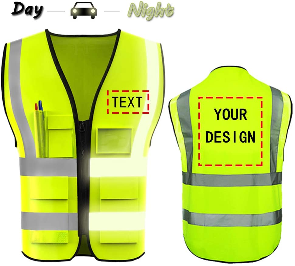 Day Night Safety Vest with custom Logo