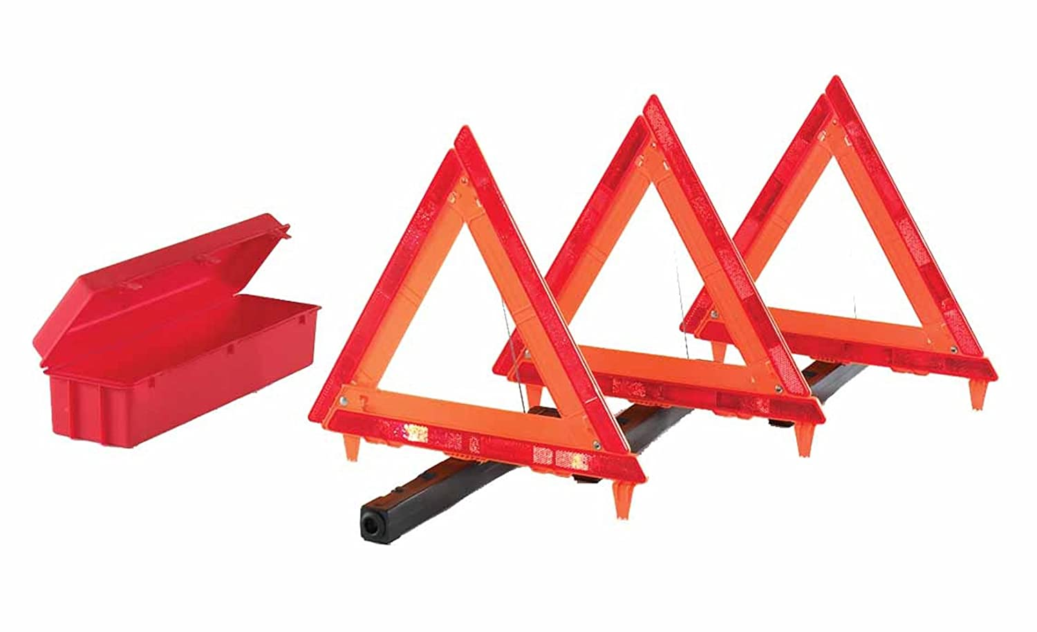 Pack of 3 warning triangles with case