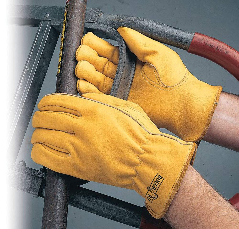 yellow Safety Gloves Cowhide for drivers and mechanics