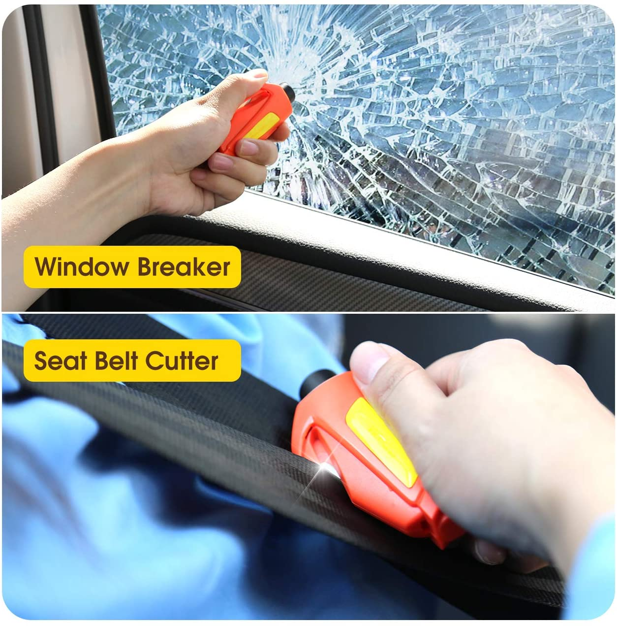 Window Breaker Seat-belt Cutter